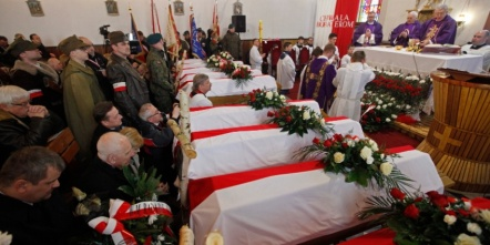 Uroczystości pogrzebowe poległych żołnierzy Burego