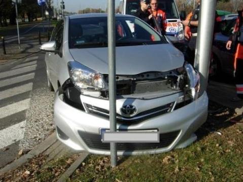 Toyota biskupa Jareckiego po wypadku