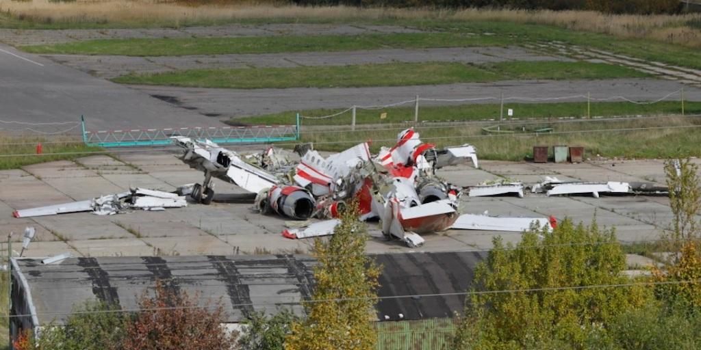 Szczatki samolotu Tu-154M