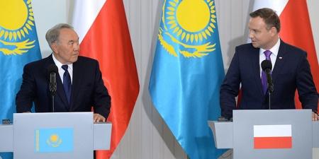 Kazakhstan's President Nursultan Nazarbayev in Poland